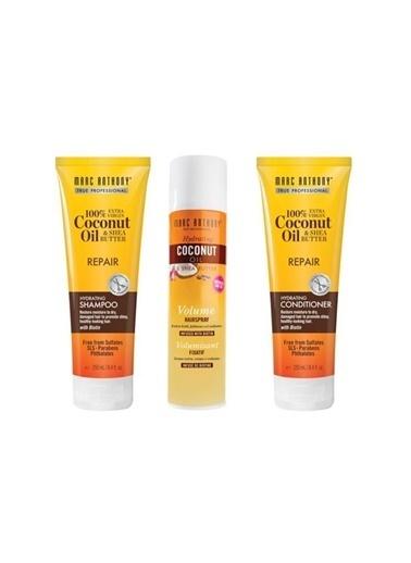 Marc Anthony Marc Anthony Coconut Biotin Yıpranmış Saç Şampuanı 250 Ml+Saç Kremi 250 Ml+Saç Spreyi 300 Ml Renksiz
